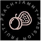 Peach, Jammy, Passion Fruit